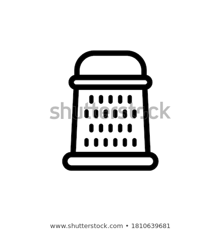 Stock photo: Grating cheese icon