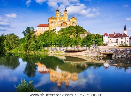 Híres apátság Duna folyó alsó Ausztria Stock fotó © tommyandone