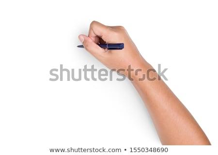Photo stock: Main · écrit · bureau · affaires · éducation