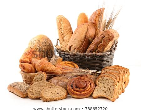 pan · alimentos · madera · fondo · desayuno - foto stock © m-studio