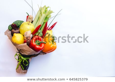Origineel ongebruikelijk eetbaar boeket groenten rotsen Stockfoto © prg0383