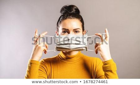 женщину маске кровать женщины спальный Мюнхен Сток-фото © IS2