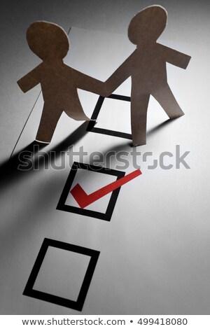 флажок бумаги цепь мужчин Сток-фото © devon