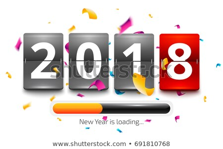 Loading New year 2018 counter stock photo © Oakozhan
