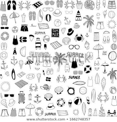 umbrella icon summer season stock photo © rwgusev