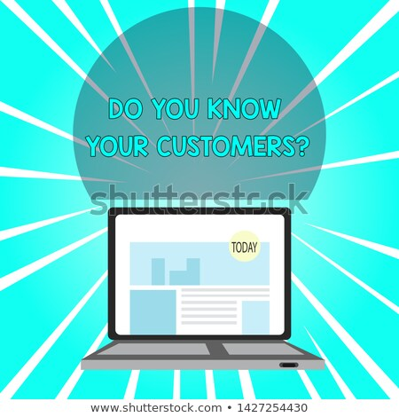 Laptop Screen with Target Your Customers Concept. Stock photo © tashatuvango