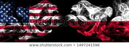 Futball lángok zászló Lengyelország fekete 3d illusztráció Stock fotó © MikhailMishchenko