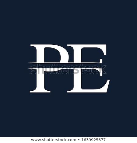 pe letter logo Stock photo © meisuseno