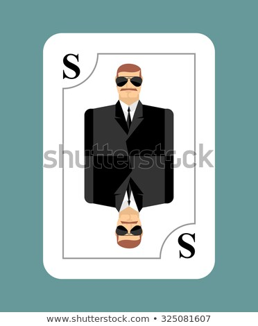 playing card secret agent scout spy conceptual new card peopl stock photo © popaukropa