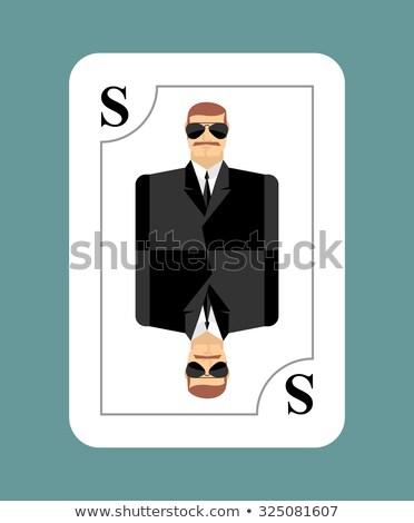 Játszik kártya titkosügynök felderítő kém új Stock fotó © popaukropa