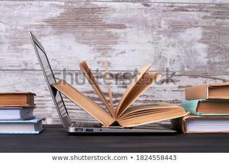opened books stack stock photo © simply