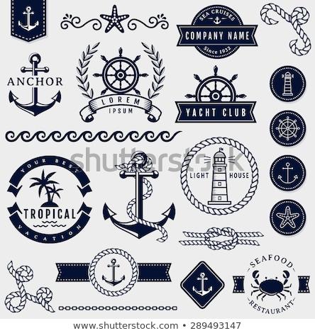 Corda âncora mar emblema água textura Foto stock © popaukropa