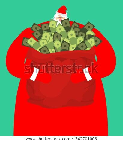 scump · Crăciun · mos · craciun · dolar · ochelari · bani - imagine de stoc © popaukropa