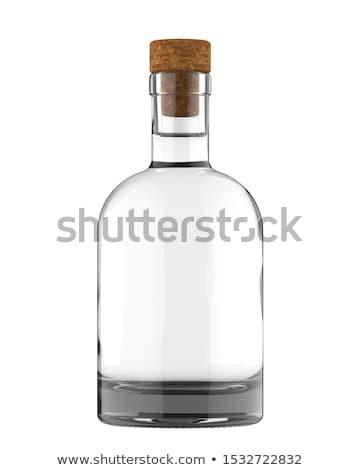 fles · goud · tequila · geïsoleerd · witte · glas - stockfoto © popaukropa