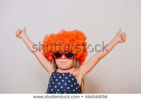 gelukkig · clown · spelen · saxofoon · illustratie · muziek - stockfoto © rastudio