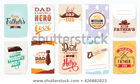 heureux · père · jour · carte · moustache · eps - photo stock © beaubelle