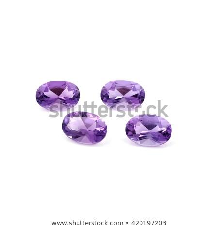 Amethist kostbaar steen mooie 3D afbeelding Stockfoto © AlexMas