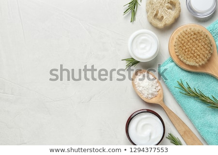 spa composition for body care on blue background stock photo © threeart