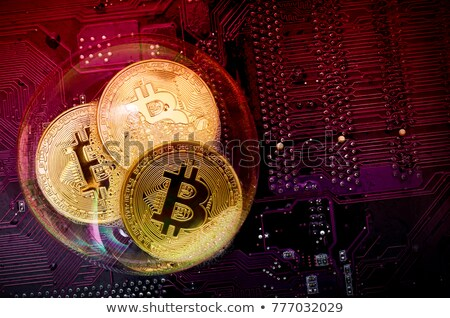 bitcoin crypto money from water bubbles Stock photo © romvo