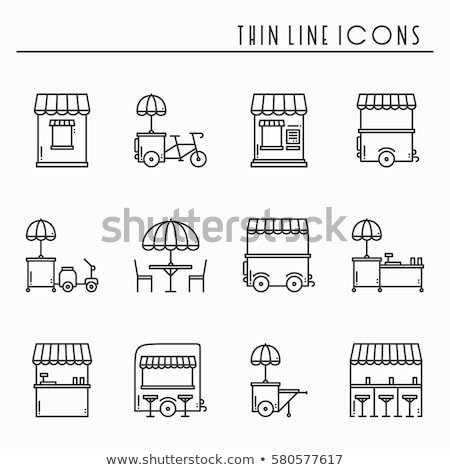 Street food isolated icon in flat style Stock photo © studioworkstock
