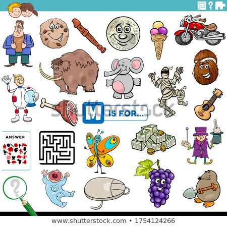 English worksheet for words starting with M Stock photo © bluering
