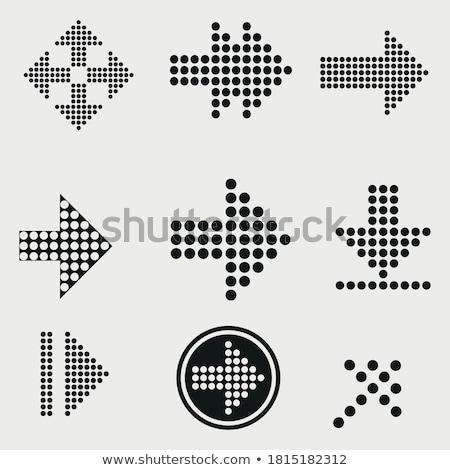 flecha · negro · color · vector · icono · símbolo - foto stock © sidmay