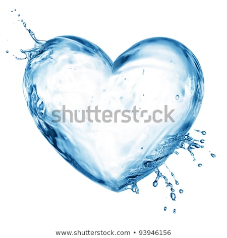 水 中心 青 孤立した 白 ストックフォト © psychoshadow