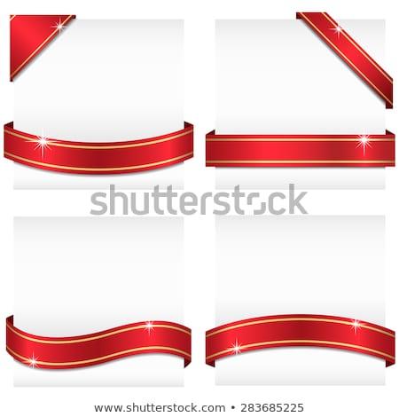 красный · Луки · иллюстрация · вектора - Сток-фото © milsiart