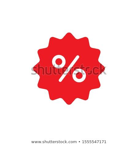 Groot korting vector icon knop ontwerp Stockfoto © rizwanali3d