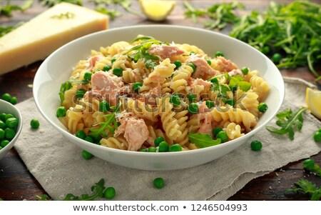 füstölz · lazac · krém · saláta · zöldségek · felszolgált · étel - stock fotó © ilolab