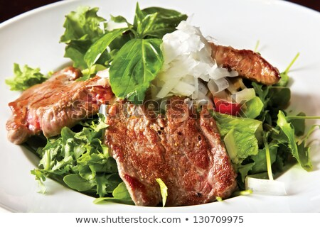 Stock photo: Grilled chicken and parmezan