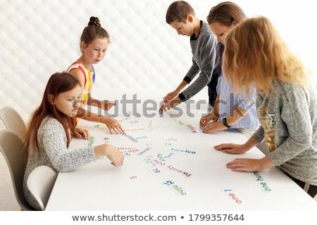 детей · класс · концепция · 3d · номера · dice - Сток-фото © monkey_business