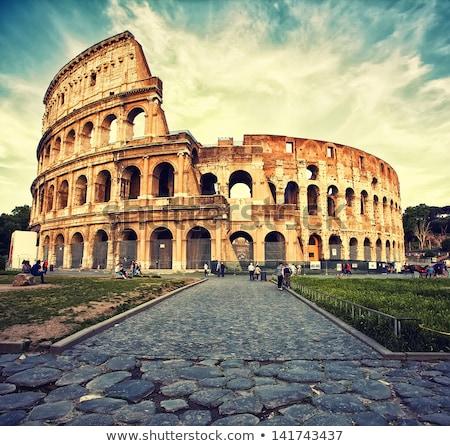ruinas · antigua · roma · verano · día · cielo - foto stock © givaga
