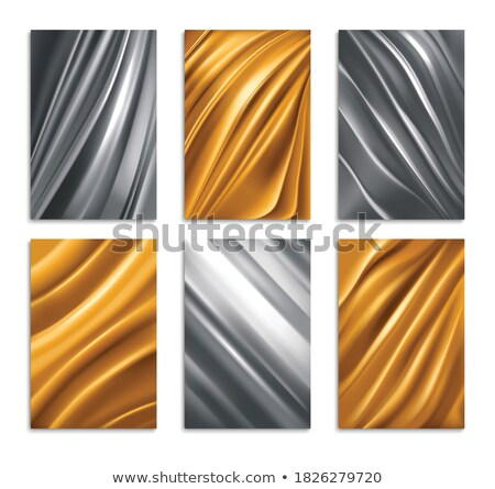 Vector copper crumpled foil seamless background. Stock photo © yopixart