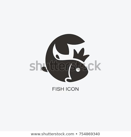Simples coroa ícone isolado branco abstrato Foto stock © kyryloff