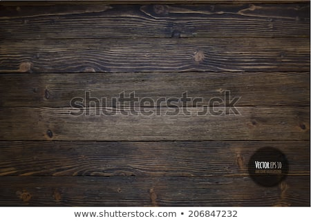 Vector wood texture background design. Natural dark vintage wooden illustration. Stock photo © articular