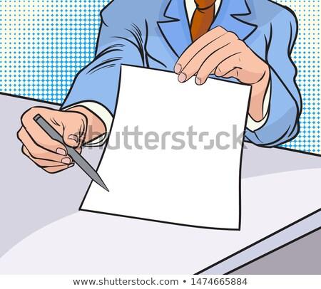 empresário · clipboard · escrita · assinatura · negócio - foto stock © studiostoks
