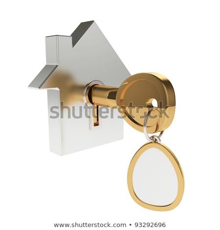 trinket house on white background. isolated 3d illustration Stock photo © ISerg