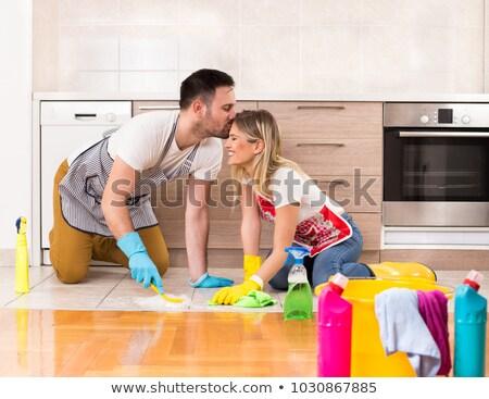 жена · муж · очистки · домой · семьи · человека - Сток-фото © diego_cervo