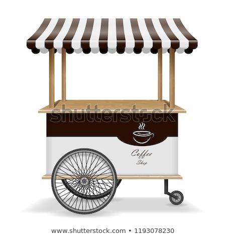 Realistic food cart vector illustration Stock photo © YuriSchmidt