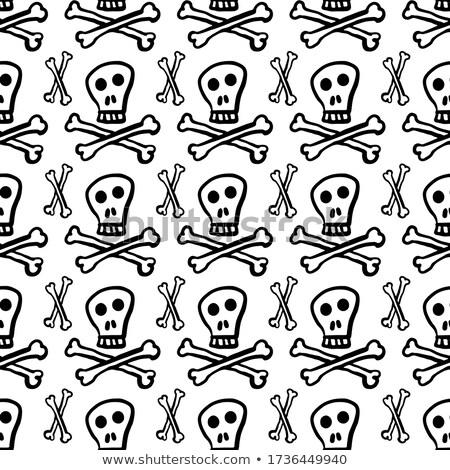 funny · mexican · czaszki · cartoon · wzór · dzień - zdjęcia stock © lady-luck