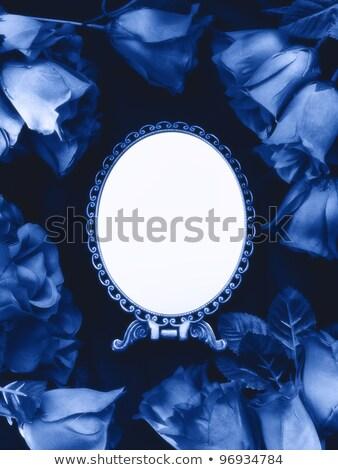 Yanan mavi gül soyut alev Stok fotoğraf © blackmoon979