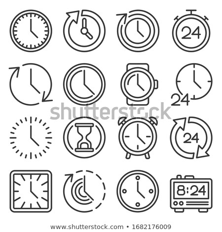 Business line icons set on a white background. Second group Stock photo © Imaagio