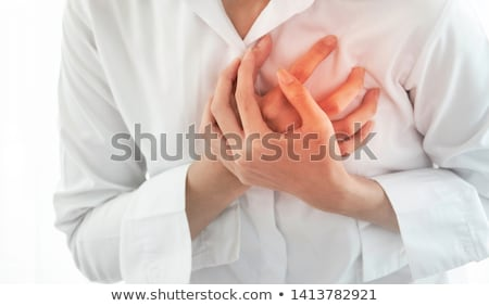 Woman Having Chest Pain Stock photo © AndreyPopov