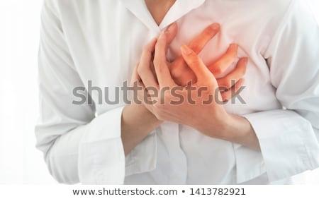 femme · estomac · douleur · blanche · fille - photo stock © andreypopov