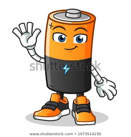 Cartoon Battery Waving Stock photo © cthoman