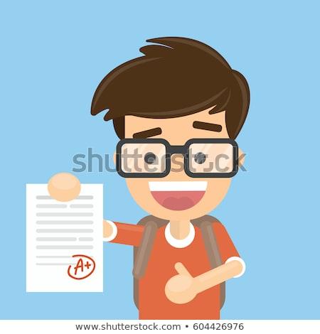 diák · tart · teszt · papír · legjobb · eredmény - stock fotó © pikepicture
