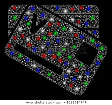 Banking Cards Round Framed Color Line Design Icon Stock photo © robuart