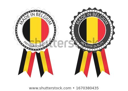 Moderne vector België label geïsoleerd witte Stockfoto © kurkalukas