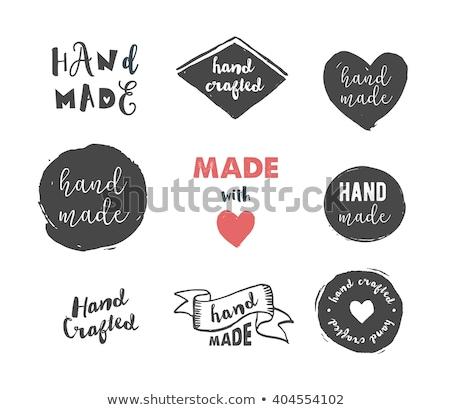 Kézzel készített műhely vonal ikon kör kéz Stock fotó © Anna_leni